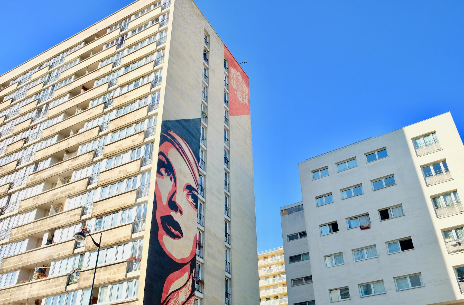 Street art paris 13 Obey Shepard Fairey
