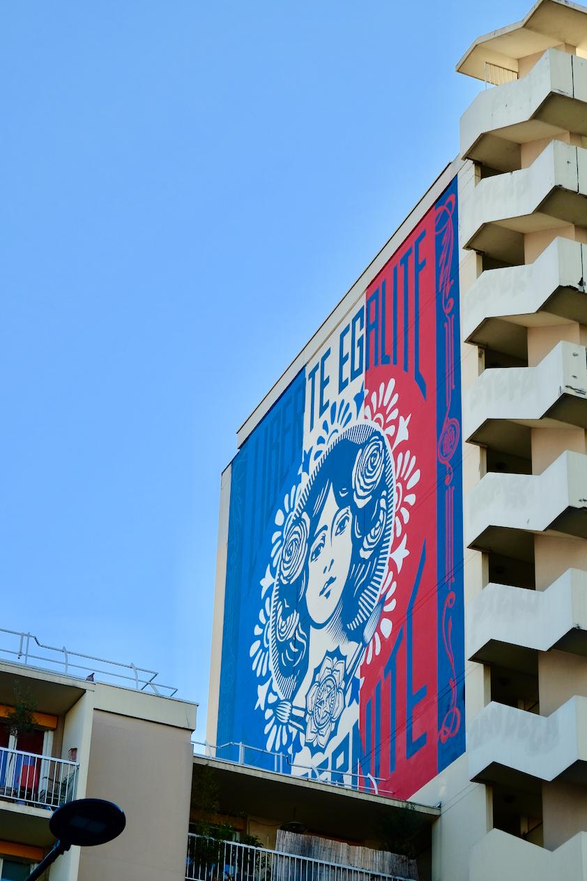 Street art paris 13  Obey