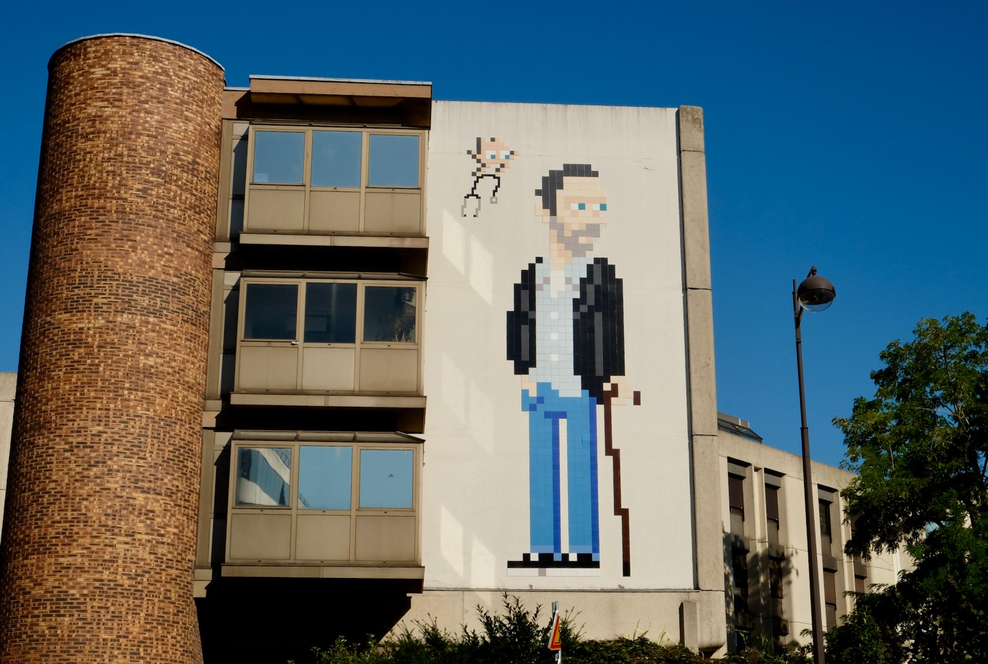 Street art paris 13  Invader Dr House