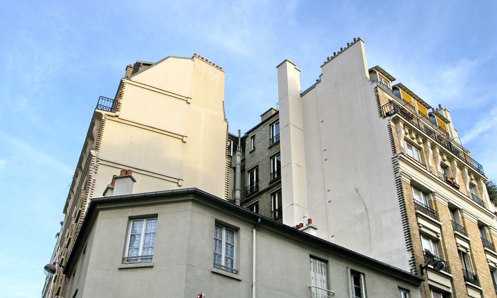 Immeuble d'angle en dent creuse à Paris