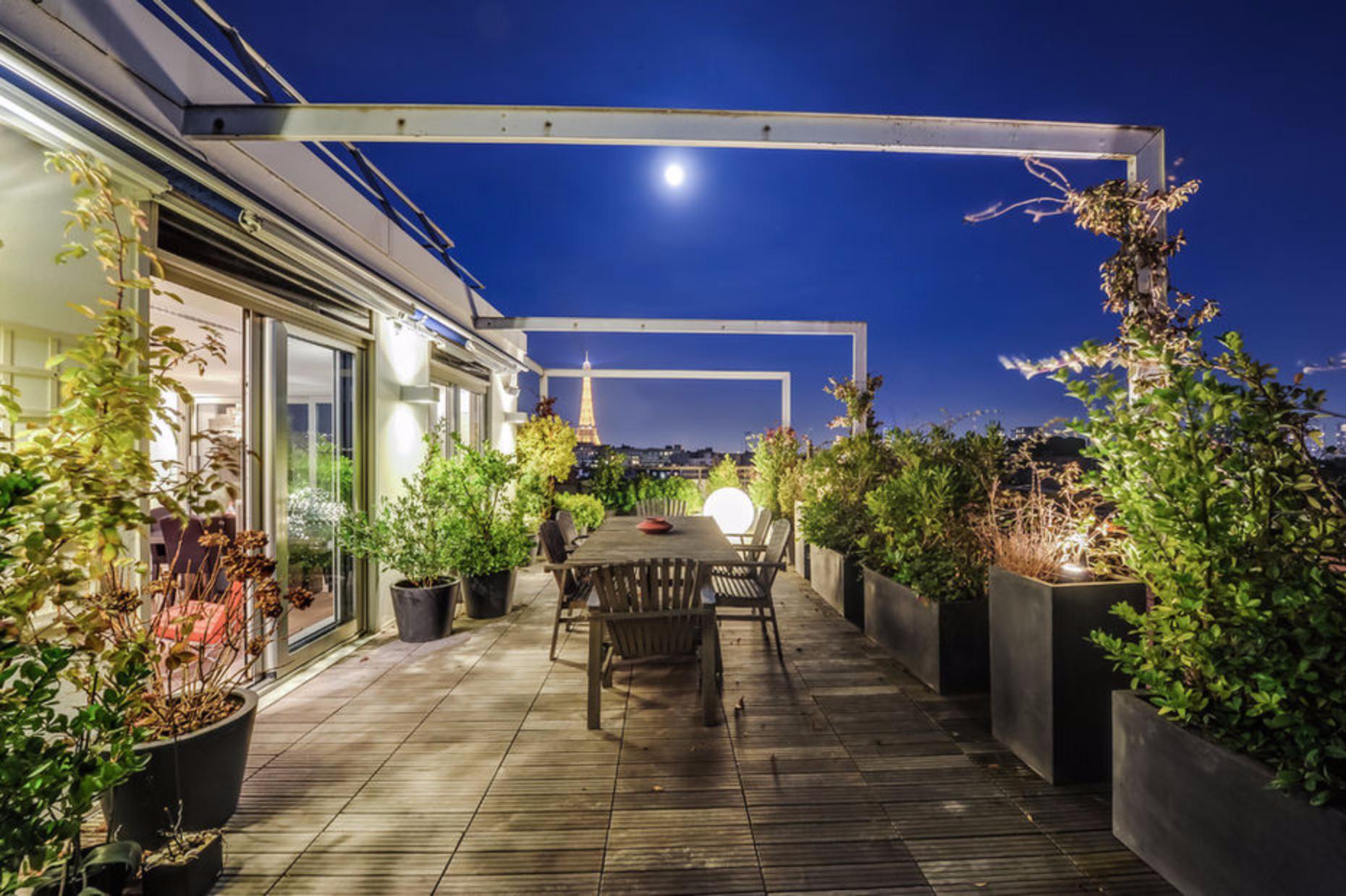 aménagement terrasse appartement paris